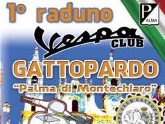 Moto raduno Vespa club palma di Montechiaro